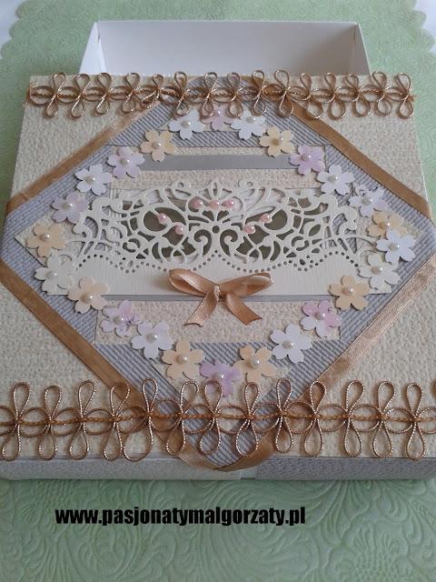 pudełko ozdobne po czekoladkach