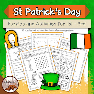 The Puzzle Den - St Patrick's Day puzzles for grades 1-3