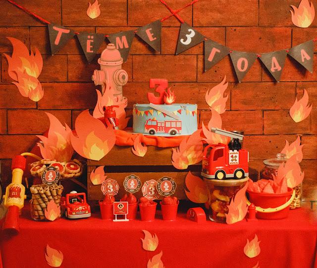 День рождения в стиле пожарных
