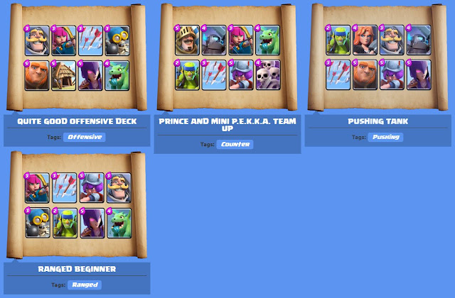 good arena 8 decks clash royale