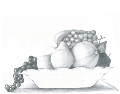 Meyve Tabağı Karakalem çizimleri Karakalem çizimleri Karakalem