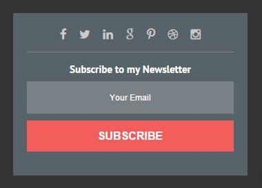 Cara Pasang Email Subscribe plus Link Media Sosial di Sidebar Blogger