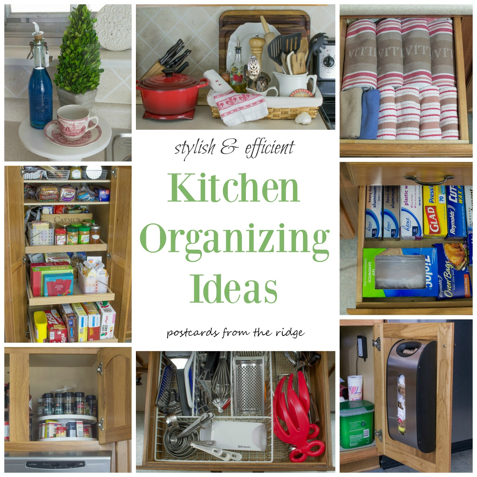 lots of great organizing ideas for the whole kitchen - Kitchen Organization Ideas