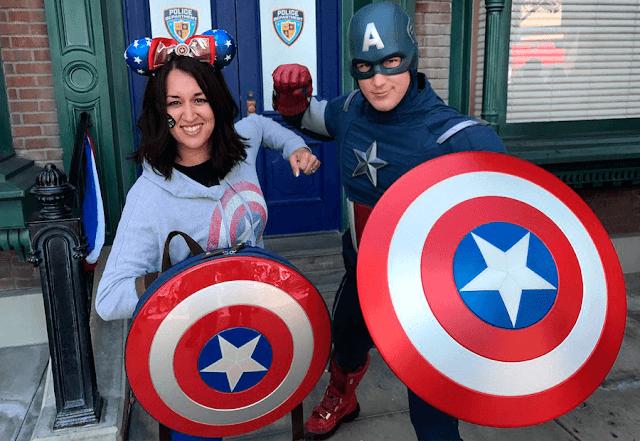 En Disneylandia puedes conocer al Capitan America