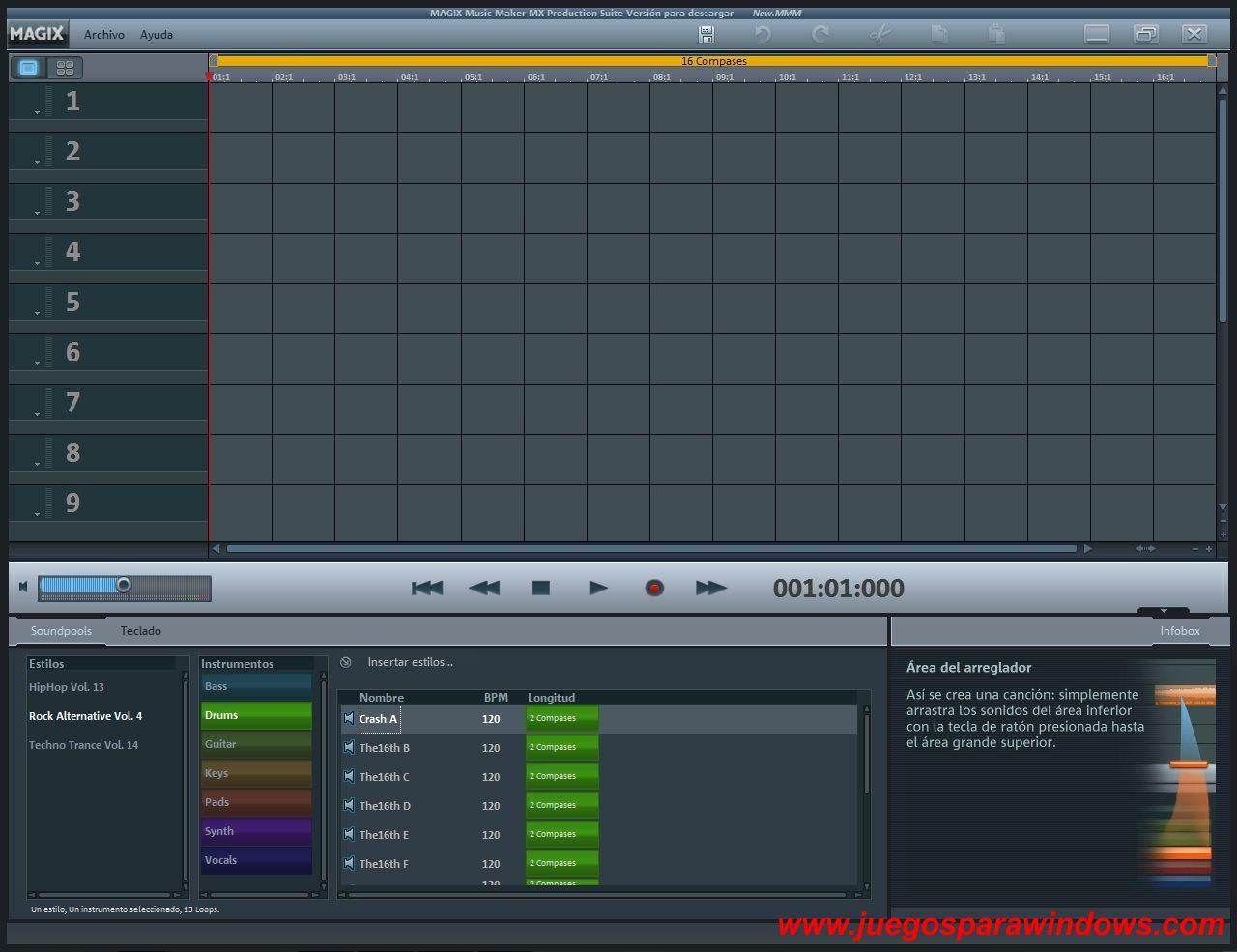 Music Maker MX Production Suite v18 www.juegosparawindows.com