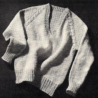 Mans Knitted Raglan Pullover Pattern