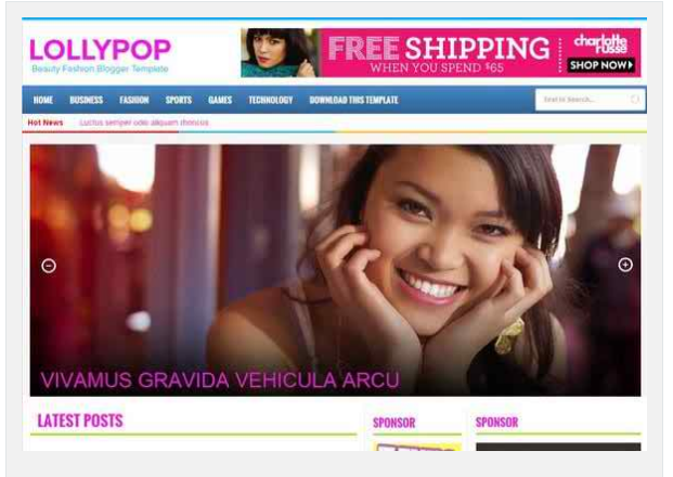 blogger template LollyPop