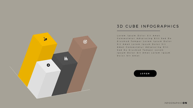 3D CUBE Infographic Elements for PowerPoint Slide 11