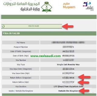 Visa Valid Status Page