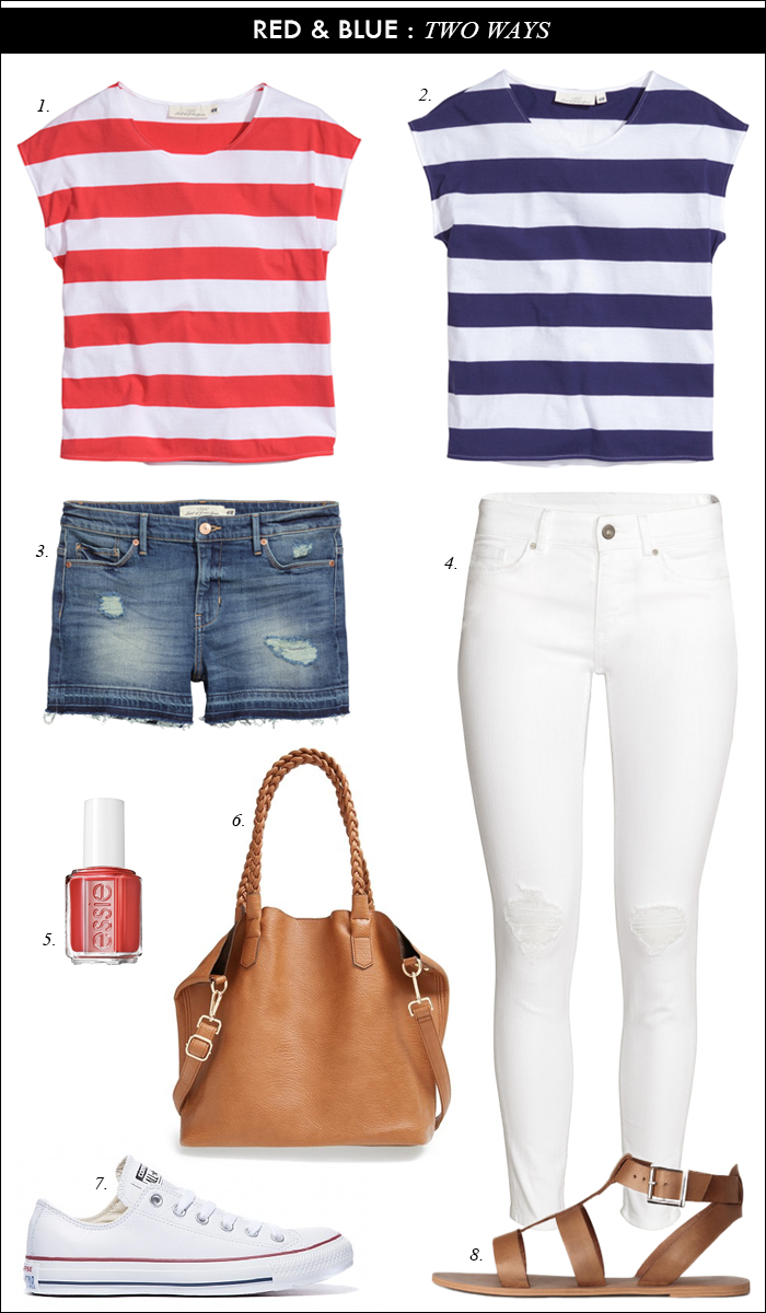 striped red tee_memorial day outfit_picnic outfit_casual summer outfit