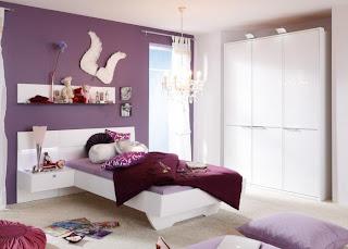 habitación color morado