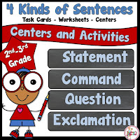 4 Kinds of Sentences Pack using Statement, Command, Question, and Exclamation Sentences
