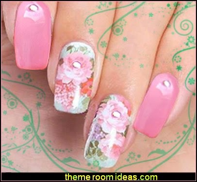 flower Nail Water Transfers False Thin Sticker Patch Wraps