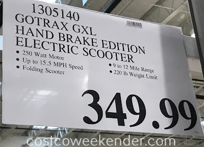 Deal for the Gotrax GXL Folding Electric Scooter at Costco