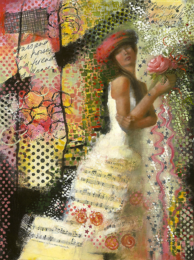 confetti collage portrait artists international contemporary figurative painting