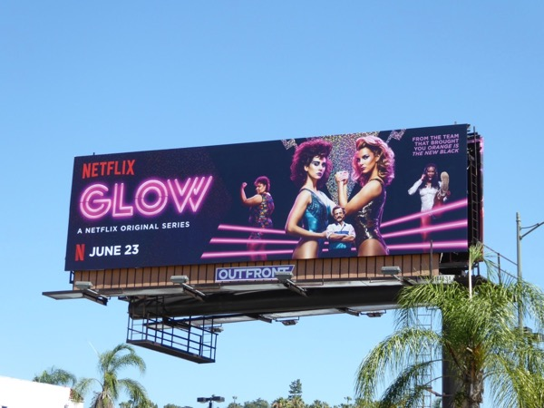 Glow TV series billboard