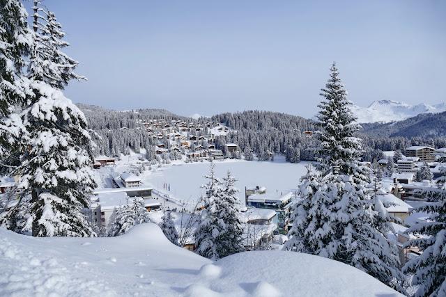 Aussicht, Eichhörnchenweg, Arosa, Obersee, verschneit, Schnee, Winter, Winterwonderland