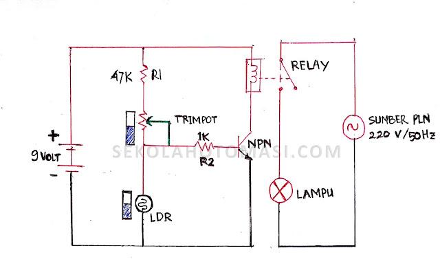 Membuat Rangkaian Sensor Cahaya LDR dan Cara Kerjanya