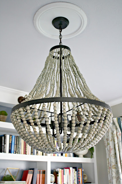 World Market beaded chandelier
