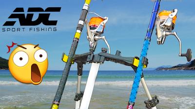 SECRETÁRIA de PESCA de PRAIA para 2 VARAS - SPIDER RS-713 ADC Sport Fishing - SURFCASTING