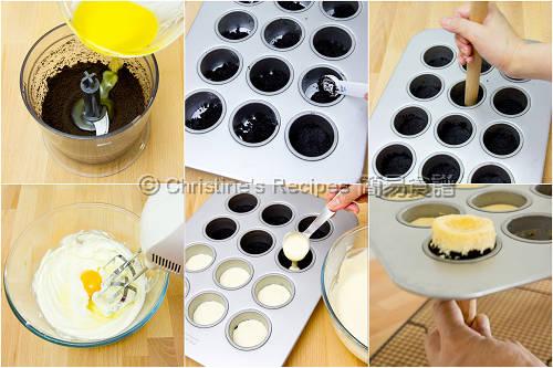 迷你藍莓芝士蛋糕製作圖 How To Make Mini Cheesecakes