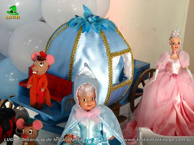 Tema Cinderela - Decoração de festa infantil