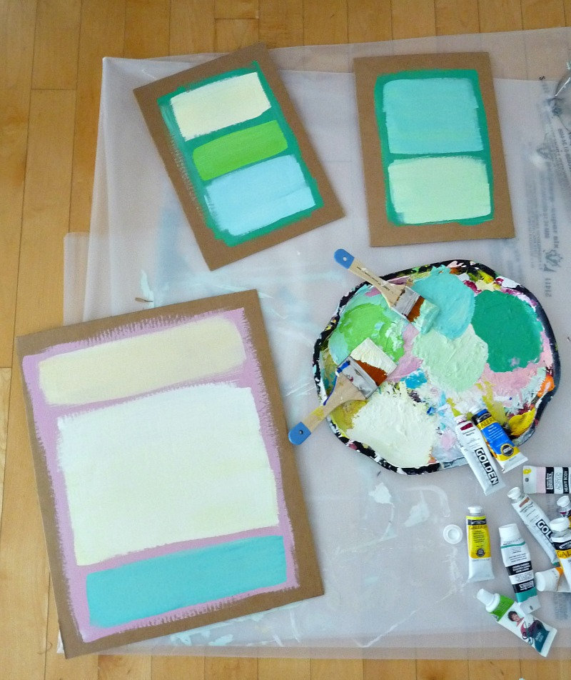 Step by step photos and instructions for DIY art