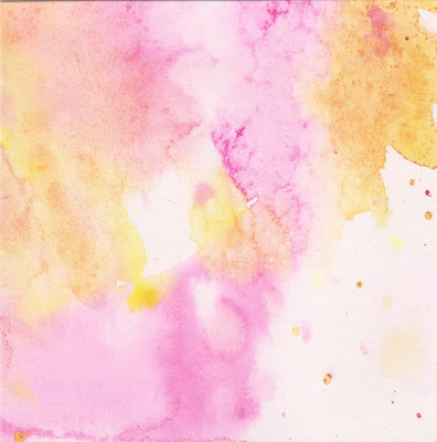 magenta pink and yellow watercolor splashes and drips