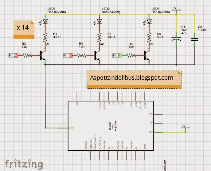Schema elettrico del circuito di Paolo Luongo