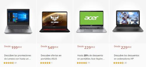 Top 5 nuevos Descuentos en portátiles de Amazon
