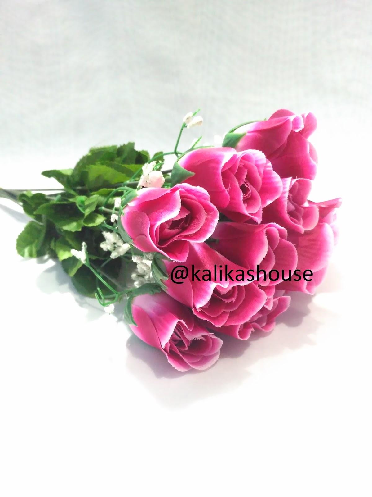 Bunga Mawar Kuncup Palsu Artificial Satuan dan Baby Breath  Bunga Hias 6ca3f26e05