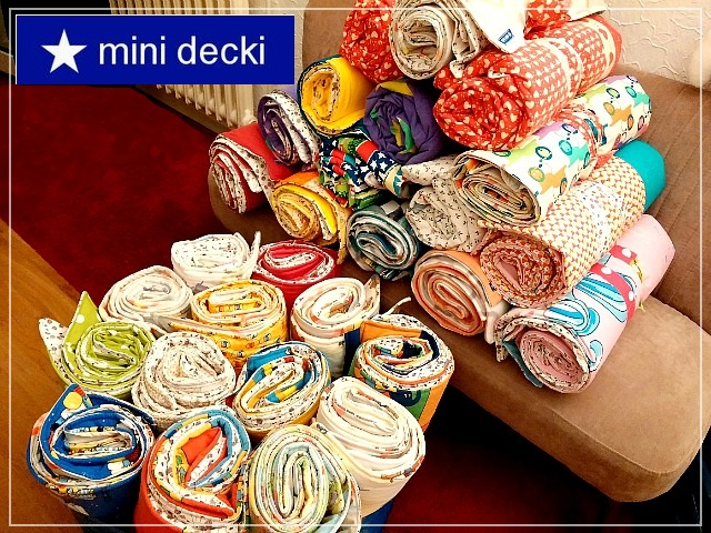 mini decki, Kuscheldecken für Flüchtlingskinder, charity project, blankets, refugee children