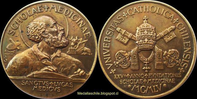 Medalla Facultad de Medicina Universidad Catolica