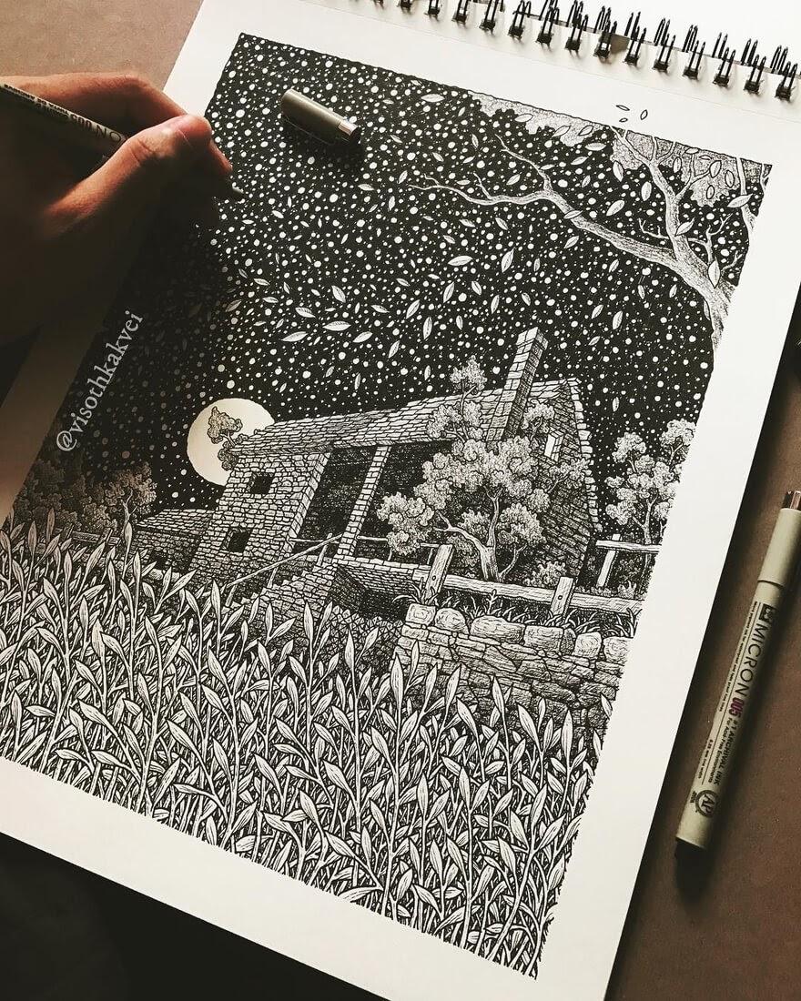 01-Mama-s-Garden-Visoth-Kakvei-visothkakvei-Intricate-and-Ornate-Black-and-White-Drawings-www-designstack-co