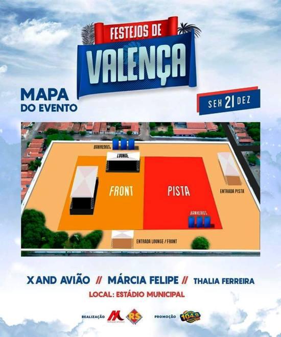 Hoje tem 'Arena Aviões' com Xand, Márcia Fellipe e Thalia Ferrreira em Valença (PI)