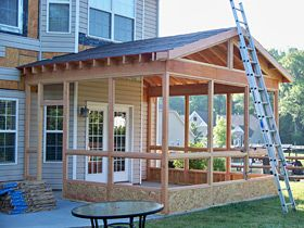 My sweet savannah screened porches for Screen room addition plans