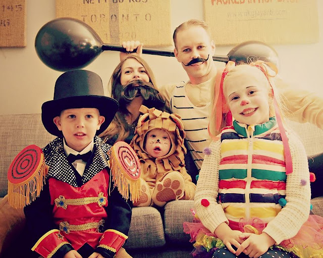 Circus Freak show family Halloween costume.