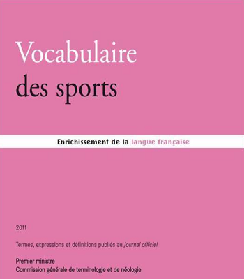 Vocabulaire des sports PDF