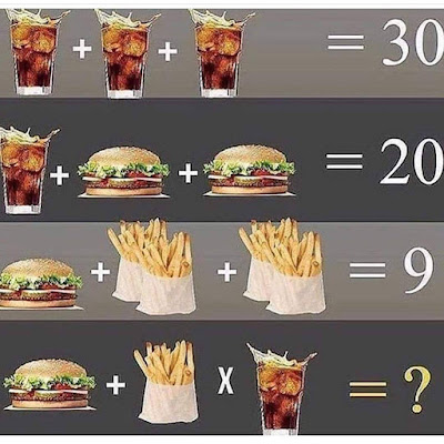 Cola Burger French Fry Puzzle