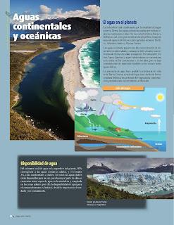 Apoyo Primaria Atlas de Geografía del Mundo 5to. Grado Capítulo 2 Lección 2 Aguas Continentales y Oceánicas, El Agua en el Planeta, Disponibilidad de Agua