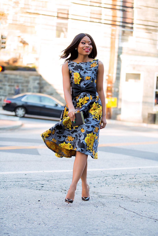 floral jacquard dress, www.jadore-fashion.com