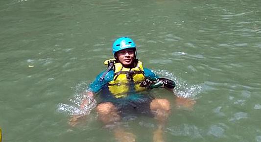 Wisata Arung Jeram (Rafting) di Sungai Elo Magelang Jateng