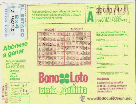 Bonoloto antigüa