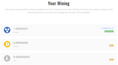 Cloud Mining Doge dan LTC Otomatis Free 1 GH/s