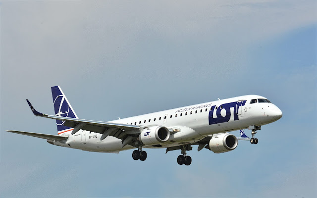 Embraer ERJ-195 of LOT Polish Airlines Landing Gear Retracted