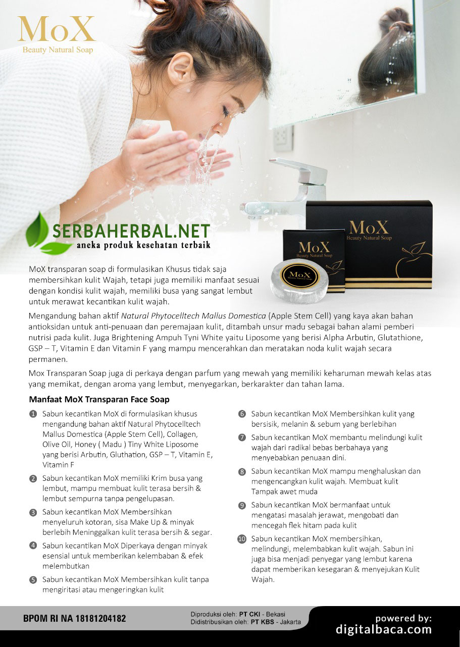 Sabun Mox Transparan Soap | Mox Beauty Natural Soap