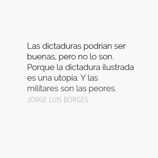 Borges y la dictadura