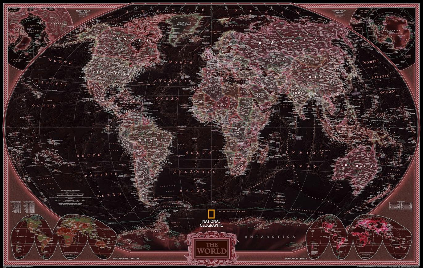 mundo mapa preto marron salmão
