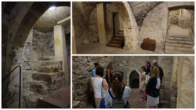 halls del ayuntamiento de Praga subterraneos