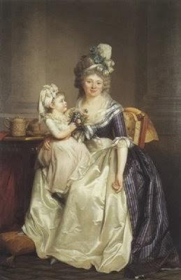 Portrait d'une Femme Tenant sa Fille Sur Les Genoux, Rose-Adélaïde Ducreux